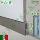 Встроенный алюминиевый плинтус с LED-подсветкой Profilpas Metal Line 87/6L