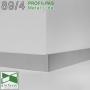 Накладной алюминиевый плинтус Profilpas Metal Line 89/4, высота 40мм. Анодированный