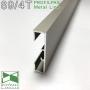 Накладной алюминиевый плинтус Profilpas Metal Line 89/4 Титан, высота 40мм.
