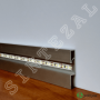 Алюминиевый плинтус с LED-подсветкой Profilpas Metal Line 89/6L