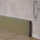 Алюминиевый плинтус накладной Profilpas Metal Line 89/6TMEI Титан Сатин, 60х10х2000мм., Италия