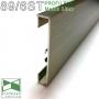 Накладной алюминиевый плинтус Profilpas Metal Line 89/6TMEI Титан Сатин, высота 60мм.
