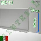Высокий алюминиевый плинтус для пола Profilpas Metal Line 90/10
