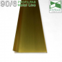 Накладной алюминиевый плинтус Profilpas Metal Line 90/6GS Золото Сатин, высота 60мм.