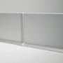 Плоский алюминиевый плинтус для пола Profilpas Metal Line 90/6, высота 60 мм.