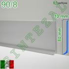 Плоский алюминиевый плинтус для пола Profilpas Metal Line 90/8