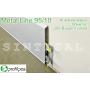 Высокий алюминиевый плинтус для пола Profilpas Metal Line 95/10, высота 100 мм.