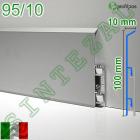 Высокий алюминиевый плинтус для пола Profilpas Metal Line 95/10
