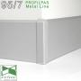 Накладной алюминиевый плинтус Profilpas Metal Line 95/7, H=70мм.