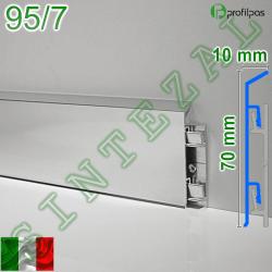 Алюминиевый плинтус для пола Profilpas Metal Line 95/7