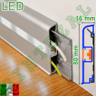 Алюминиевый плинтус с подсветкой Progress PROSKIRTING LED