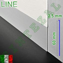 Скрытый плинтус под штукатурку Progress PROSKIRTING LINE, высота 60 мм.
