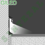 Алюминиевый плинтус с направленной LED-подсветкой, Progress PROSKIRTING GILED