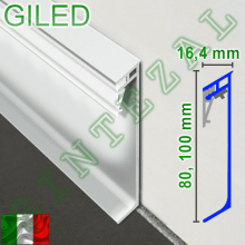 Алюминиевый плинтус с LED-подствекой Progress PROSKIRTING GILED