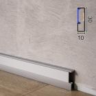 Алюминиевый плинтус c LED-подсветкой Profilpas ProLight LLA/30, 30х10х2700мм.