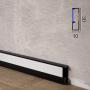Компактный алюминиевый плинтус c LED-подсветкой Profilpas ProLight LLA/30, высота 30 мм.