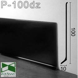 Черный алюминиевый плинтус Sintezal® P-100DZ, высота 10cм.