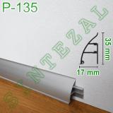 Универсальный алюминиевый плинтус Р-135, 35х17мм