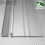 Широкий алюминиевый плинтус для пола ARFEN Р-312, высота мм. Серебро
