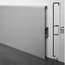 Алюминиевый плинтус высокий ARFEN Р-312, 120х13х3000мм. Анодированный