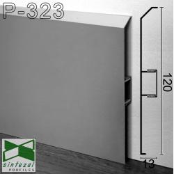 Алюминиевый плинтус для пола ARFEN Р-323, 120х13х3000мм., анодированный