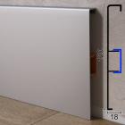Высокий алюминиевый плинтус для пола ARFEN P-328, 120х18х3000мм., Серебро