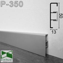 Алюминиевый плинтус для пола ARFEN P-350, 50х13х3000мм., анодированный