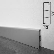 Алюминиевый плинтус напольный ARFEN P-350, 50х13х3000мм., Cеребро
