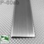 Плоский алюминиевый плинтус для пола Sintezal P-60SB,  высота 60 мм. Серебро Сатин