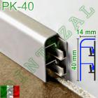 Алюминиевый плинтус для пола Progress PROSKIRTING 40