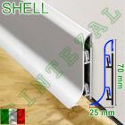 Алюминиевый плинтус для пола Progress PROSKIRTING SHELL