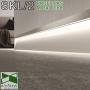 Скрытый алюминиевый плинтус с подсветкой Profilpas Metal Line XL Design SKL/2.